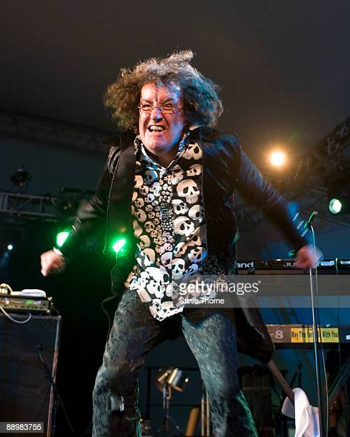 Monty Oxy Moron of The Damned performs on stage on the first day of Cornbury Festival on July 11 2009 in near Charlbury United Kingdom