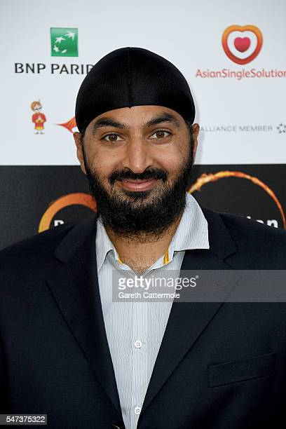 Monty Panesar arrives at the opening night of the London Indian Film Festival at Cineworld Cinemas on July 14 2016 in London England
