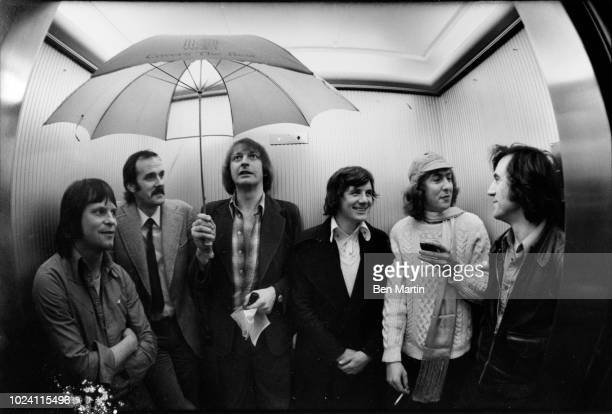 Monty Python gang Terry Jones John Cleese Michael Palin Eric Idle Graham Chapman Terry Gilliam Los Angeles May 16th 1975