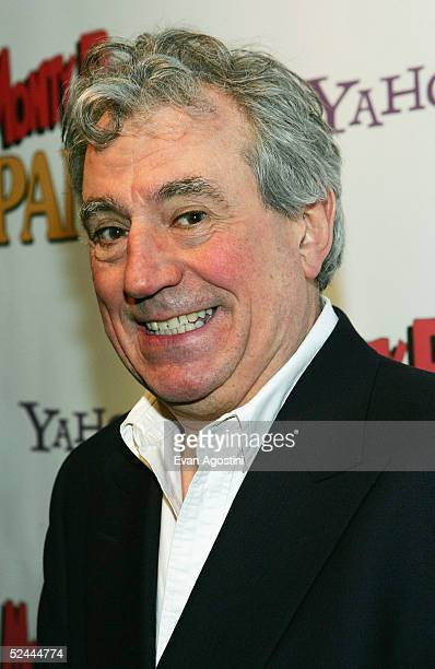 Monty Python member Terry Jones attends the opening night after party for Monty Python's Spamalot at Roseland Ballroom March 17 2005 in New York City