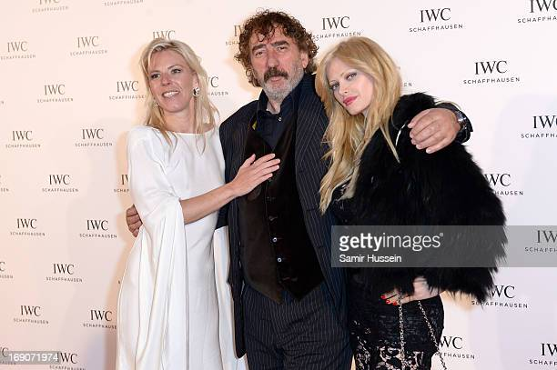 """Monty Shadow and Audrey Tritto with Karoline Huber Brand Director IWC Middle East at the exclusive """"For the Love of Cinema"""" event hosted by Swiss..."""