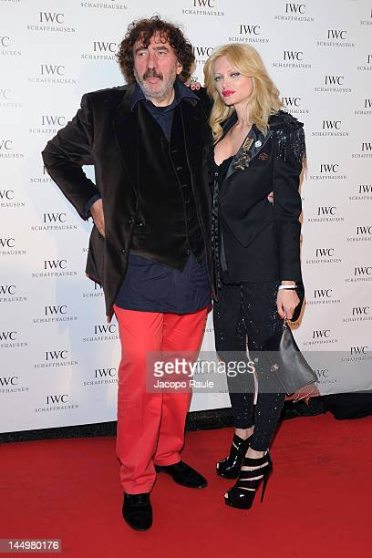 Monty Shadow and guest attend IWC Filmmakers Dinner At Eden Roc Red Carpet Arrivals 65th Annual Cannes Film Festival at Hotel Du CapEden Roc on May...