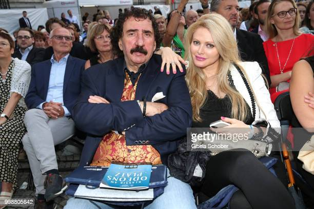 Monty Shadow and his girlfriend Audrey Tritto during the MercedesBenz reception at 'Klassik am Odeonsplatz' on July 14 2018 in Munich Germany