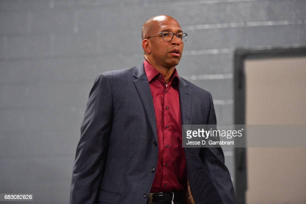 Monty Williams vice president of basketball operations for the San Antonio Spurs arrives at the arena before Game Six of the Western Conference...