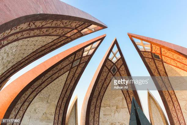 monument against sky, islamabad, pakistan - islamabad stock pictures, royalty-free photos & images