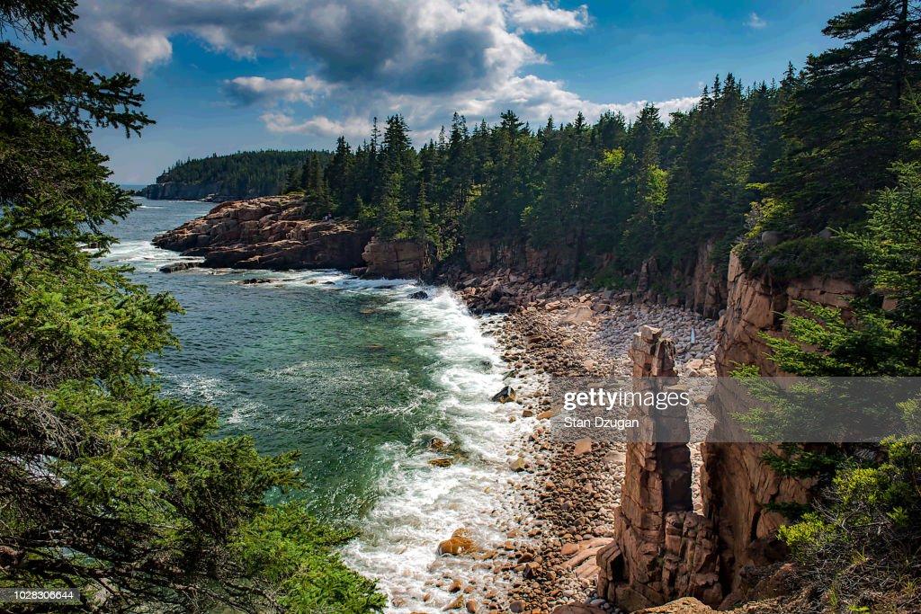 Monument Cove Acadia National Park : Stock Photo