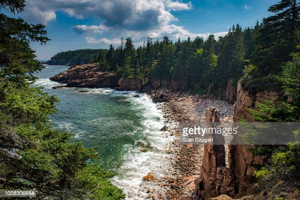 monument cove acadia national park - maine stock pictures, royalty-free photos & images