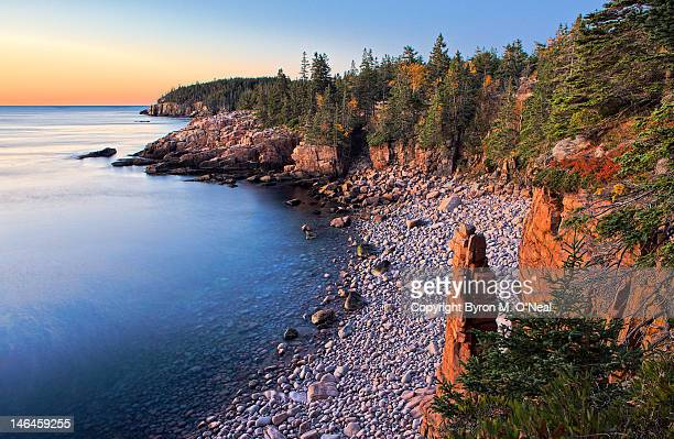 monument cove - bar harbor stock photos and pictures