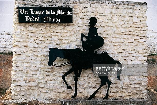 Monument dedicated to Don Quixote Pedro Munoz CastileLa Mancha Spain