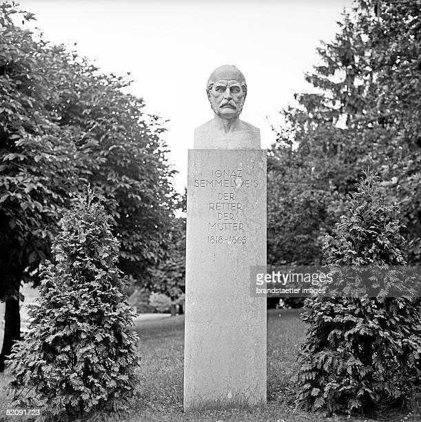 Monument for Ignaz Semmelweis [Denkmal fr Ignaz Semmelweis sterr Arzt Semmelweisklinik Wien Photographie]
