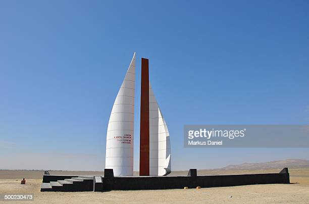 Monument in Paracas, Peru to General Jose de San Martin and his expedition that led to Peru's independence from Spain.