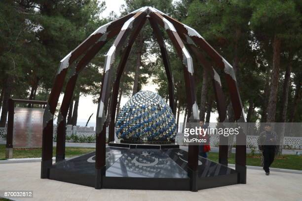 A monument is seen at the Canakkale Martyrs' Memorial on the Gallipoli peninsula in Canakkale Turkey on November 4 2017 ''Turkey is currently ranked...