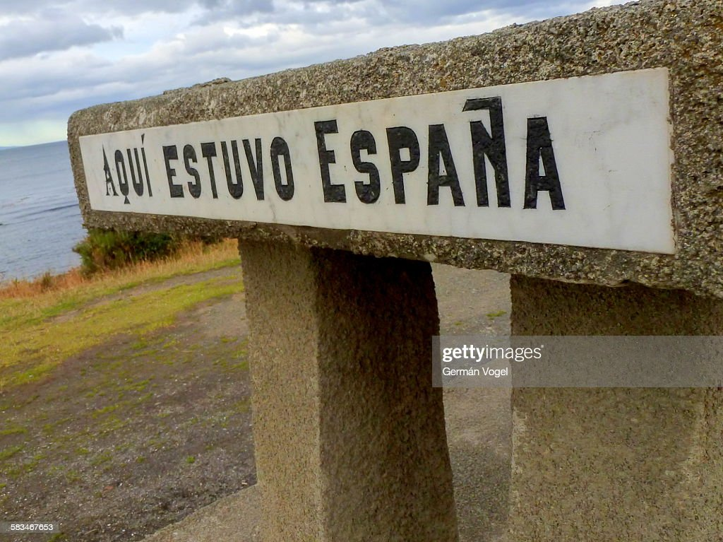 Monument marking extension of Spanish empire : Stock Photo