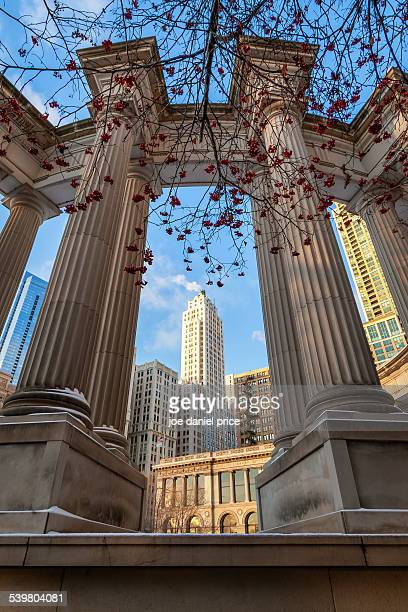 Monument, Millennium Park, Chicago, Illinois, US