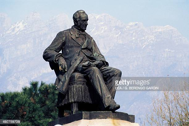 Monument of Alessandro Manzoni Lecco Lombardy Italy