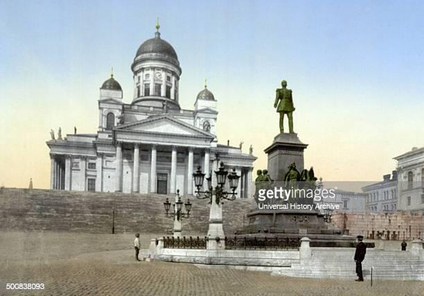 Monument of Alexander II Helsingfors Russia ie Helsinki Finland