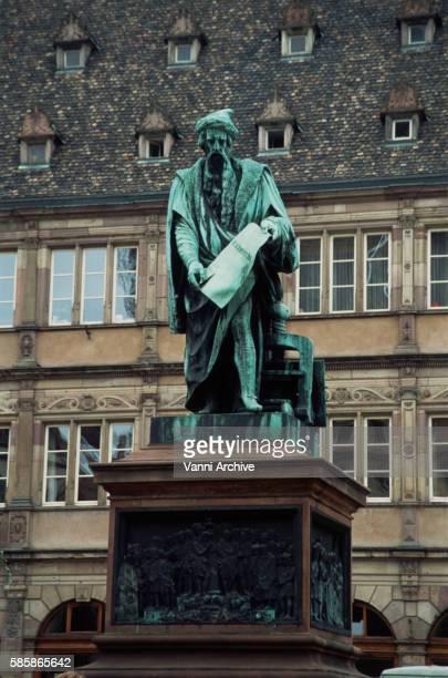 Monument of Gutenberg in Strasbourg