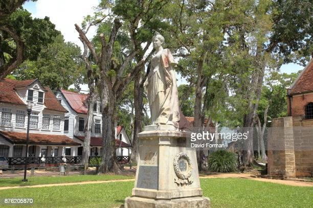 Monument of Queen Wilhelmina of the Netherlands, Paramaribo. Suriname.