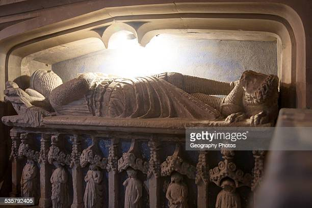 Monument of Sir Walter de Dunstanville died 1270 Church of Saint Andrew Castle Combe Wiltshire England UK