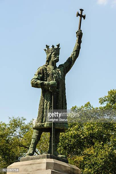 monument of stefan the great - chisinau stock pictures, royalty-free photos & images
