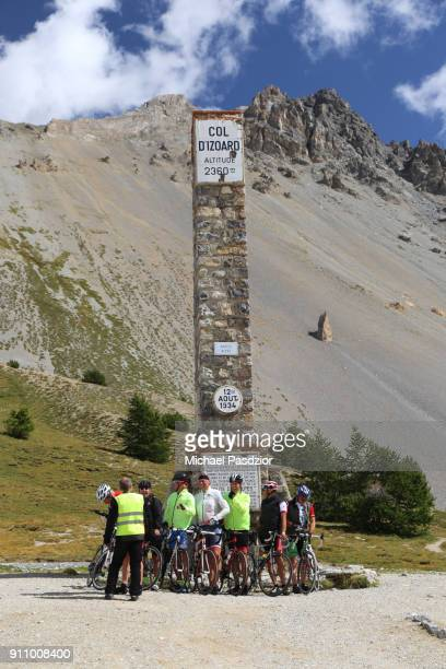 monument on Col d`Izoard in the Alpes