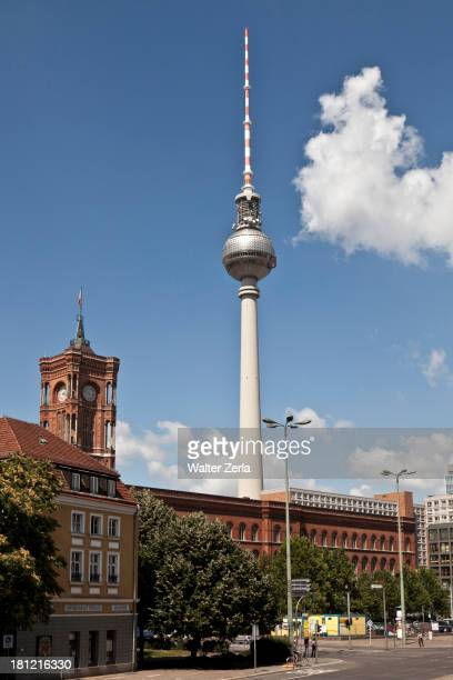 Monument overlooking cityscape, Berlin, Germany