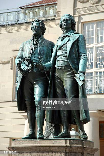 Monument statue of Goethe and Schiller