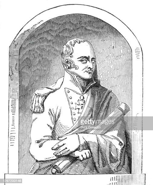 Monument to Admiral Maitland, 1845. Sculpture '...in alto relievo', by 'Mr. T. Campbell, of Great Marlborough-street, London', of British naval...