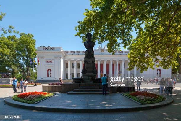 オデッサのアレクサンダー・プーシキン記念碑 - ウクライナ オデッサ市 ストックフォトと画像