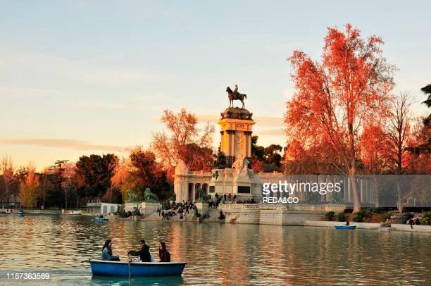 Monument to Alfonso XII. Buen Retiro Park. Madrid. Spain. Europe.