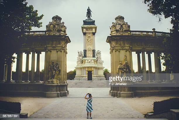 monument to alfonso xii in madrid - madrid stock pictures, royalty-free photos & images