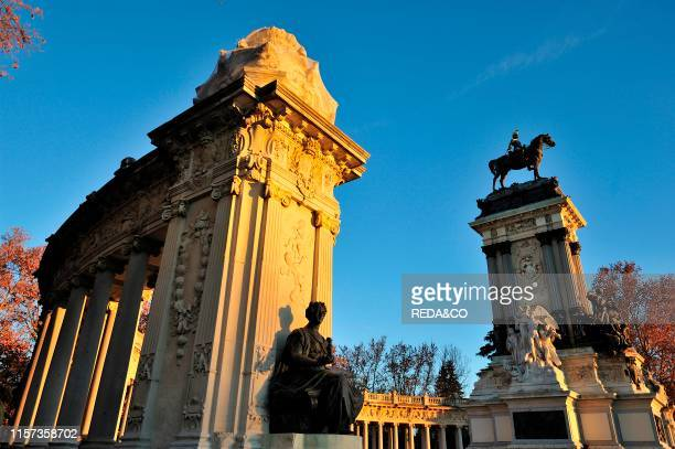Monument to Alfonso XII part. Buen Retiro Park. Madrid. Spain. Europe.