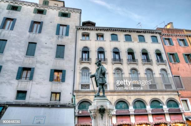 Monument to Carlo Goldoni - Venice, Italy