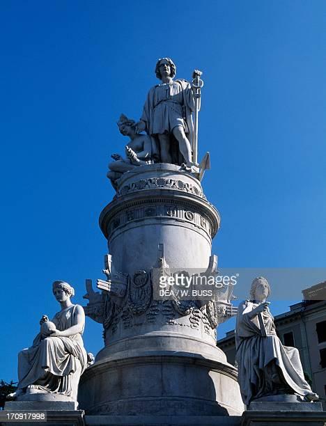 Monument to Christopher Columbus Piazza Acquaverde Genoa Liguria Italy