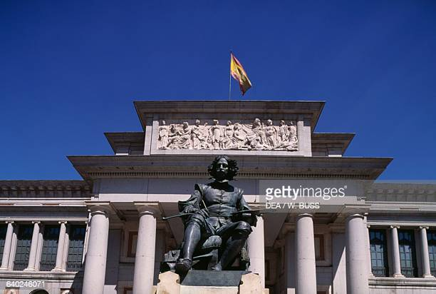 Monument to Diego Velazquez by Aniceto Marinas in front of the Prado Museum Madrid Spain