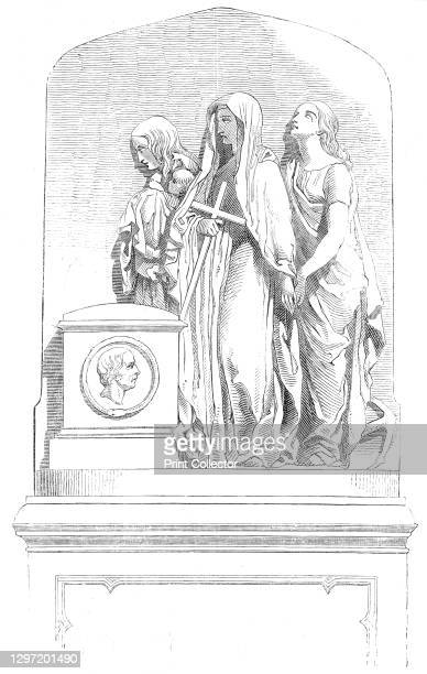 Monument to Dr. Alison, at Edinburgh, 1845. Sculpture in memory of Scottish priest and essayist Archibald Alison. 'The chaste and classical...