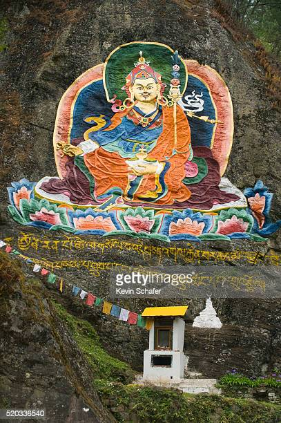 monument to guru rimpoche near the cheri monastery in bhutan - ティンプー ストックフォトと画像