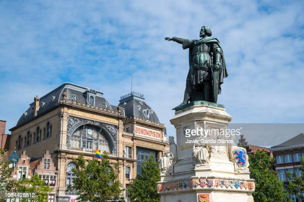 monument to jacob van artevelde - monument stock pictures, royalty-free photos & images