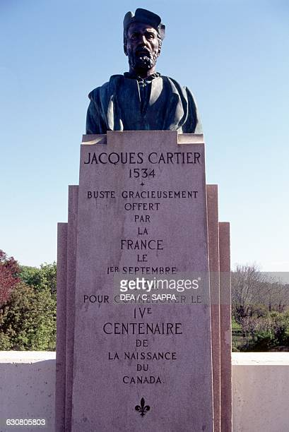 Monument to Jacques Cartier , French navigator who reached Canada, Newfoundland and Labrador, setting the foundations for French dominion in Canada,...