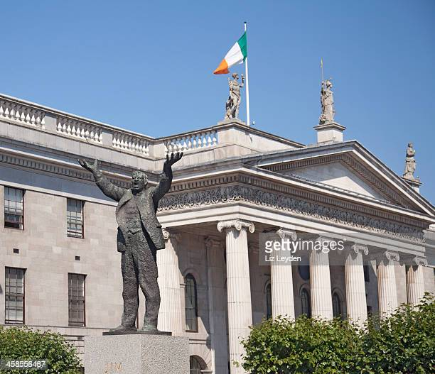 monument to jim larkin, o'connell street, dublin - ancient history stock photos and pictures