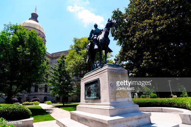 A monument to John Brown Gordon confederate war hero two time Georgia governor and three time US senator graces the grounds the Georgia State Capitol...
