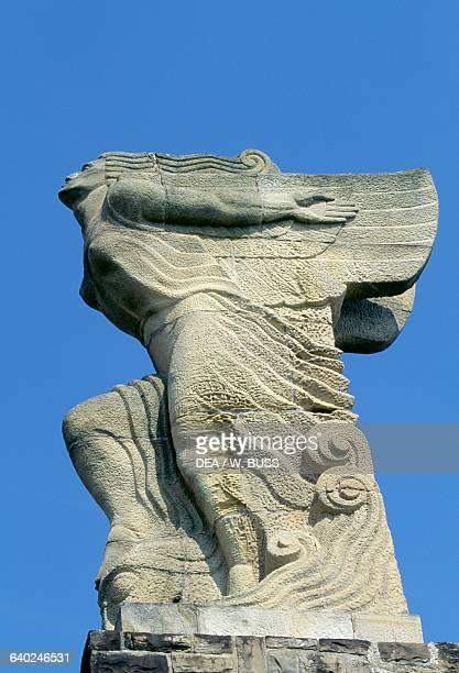 Monument to Juan Sebastian Elcano by Victorio Macho Getaria Basque Country Spain Detail