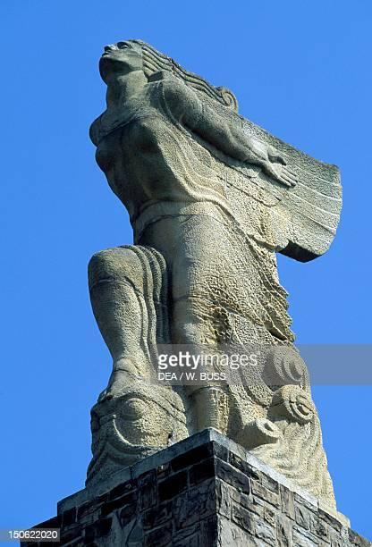 Monument to Juan Sebastian Elcano Guetaria Basque Country Detail Spain 20th century
