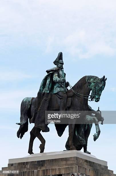 monument to kaiser wilhelm i at koblenz, germany - ogphoto bildbanksfoton och bilder