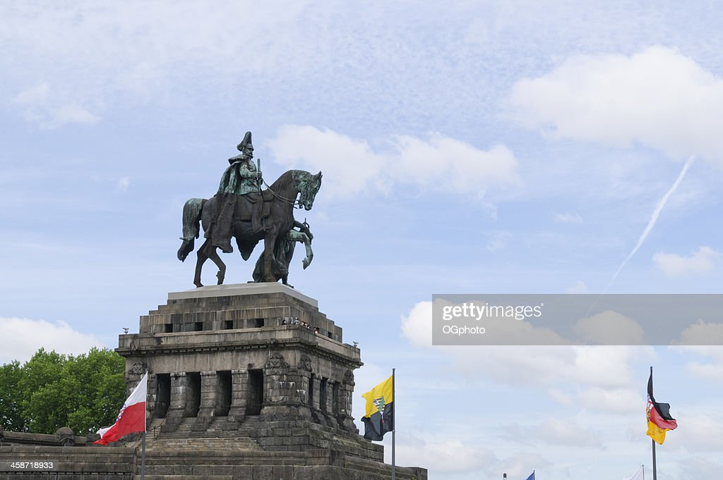 Monument to Kaiser Wilhelm I at Koblenz, Germany : Stock Photo