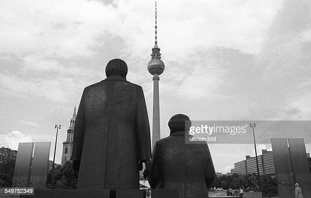 Monument to Karl Marx and Friedrich Engels in the East Berlin city center