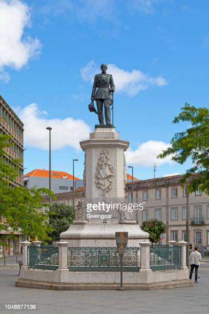 monument to king dom pedro v in porto - gwengoat stock pictures, royalty-free photos & images