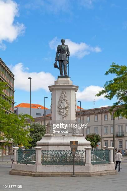 monument koning dom pedro v in porto - gwengoat stockfoto's en -beelden
