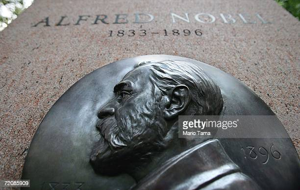 A monument to Nobel Prize founder Alfred Nobel stands October 4 2006 in New York City Americans have won all three of the Nobel Prizes announced this...