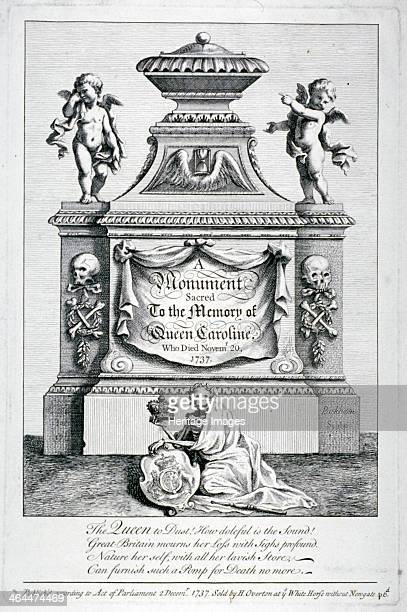 Monument to Queen Caroline, consort of George II, Henry VII's Chapel, Westminster Abbey, London, 1737.